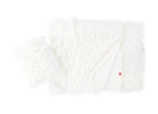 Decorative fur bedspread  LUMA white 155x200 cm