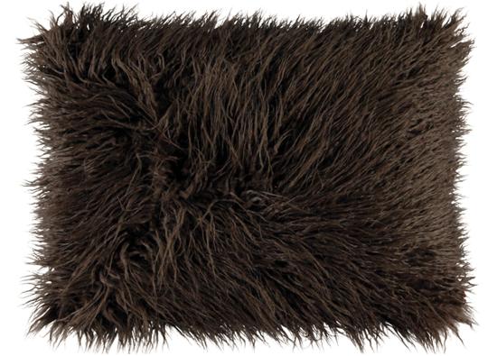 Faux fur pillow LUMA brown 40x50 cm