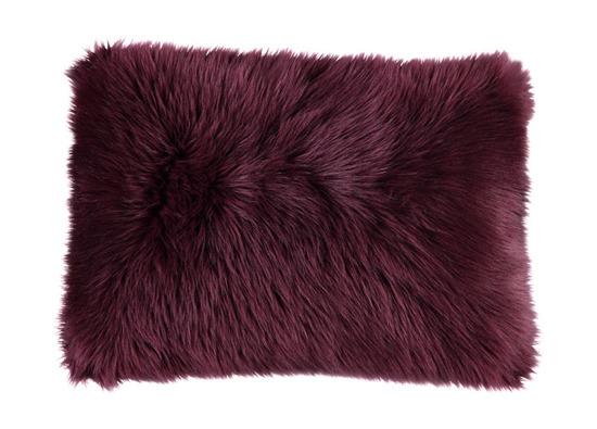 Faux fur pillow SHAGGY claret 40x50 cm