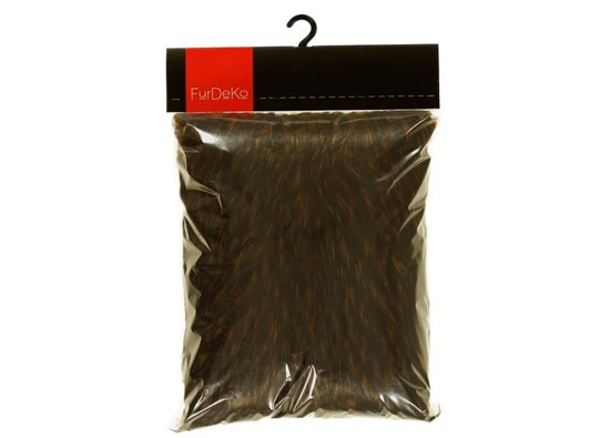 Futrzana poduszka dekoracyjna JENO brązowy 40x50 cm
