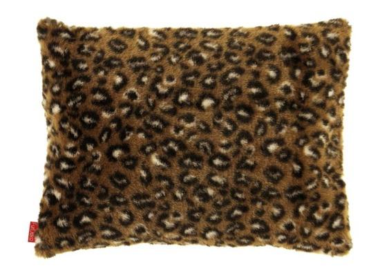 Futrzana poduszka dekoracyjna OCELOT brązowy 40x50 cm