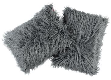 Futrzana poduszka dekoracyjna LUMA szary 40x50 cm