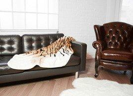 Decorative faux fur bedspread TIGER