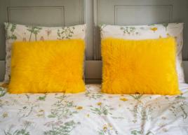 Decorative faux fur pillow SHAGGY