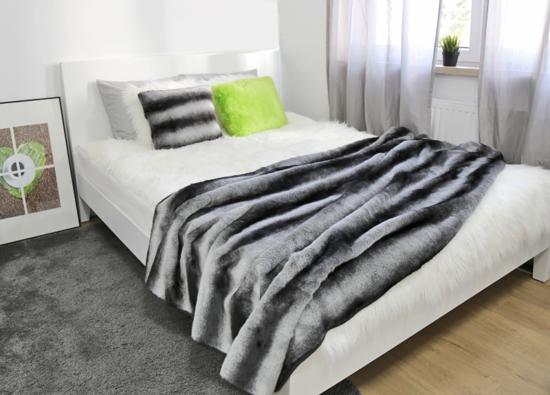 Decorative Faux Fur Set, Bedspread ROYAL CHINCHILLA