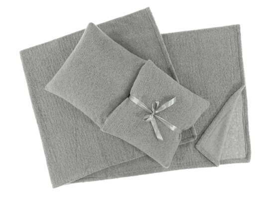 Decorative bedspread, blanket  LOOP grey 45x45 cm