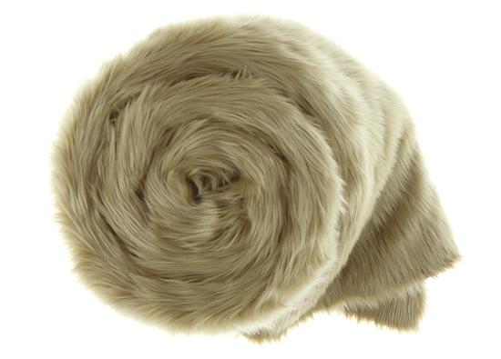 Decorative faux fur bedspread KARAKUM