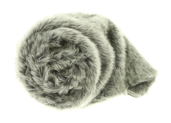 Decorative faux fur bedspread, blanket SILVER TALISMAN grey 150x200 cm