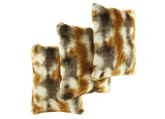 Faux fur pillow GOLD ELEGANCE beige, brown 40x50 cm