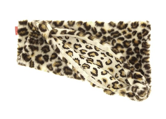 Decorative faux fur pillow OCELOT
