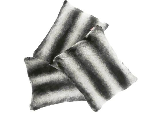 Faux fur pillow ROYAL CHINCHILLA black 40x50 cm