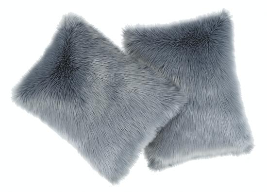 Faux fur pillow SHAGGY grey 40x50 cm