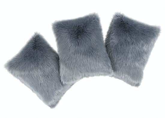 Decorative faux fur pillow MARENGO