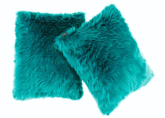 Decorative faux fur pillow LAGUNA KALA