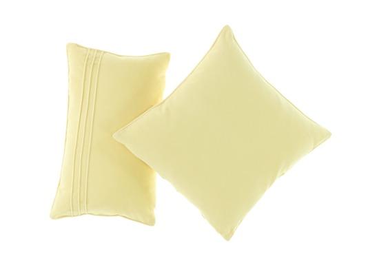 Velvet pillow ROMEO ecru 45x45 cm