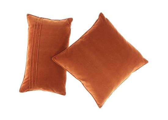 Velvet pillow ROMEO ginger 45x45 cm