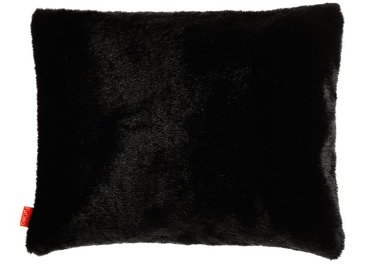 Faux fur pillow MINK black 40x50 cm