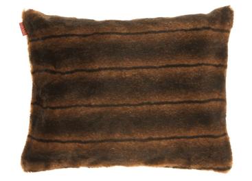 Faux fur pillow ROMANTIC BRUNETTE brown 40x50 cm
