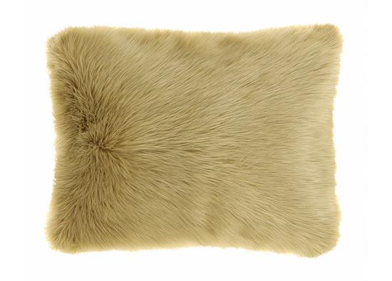 Futrzana poduszka dekoracyjna CZUPER beżowy 40x50 cm