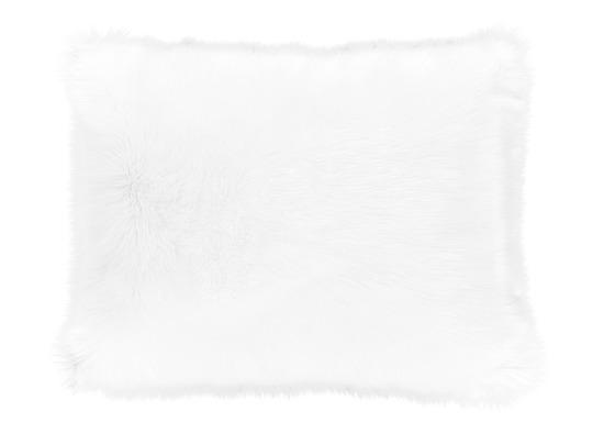 Futrzana poduszka dekoracyjna CZUPER biały 40x50 cm