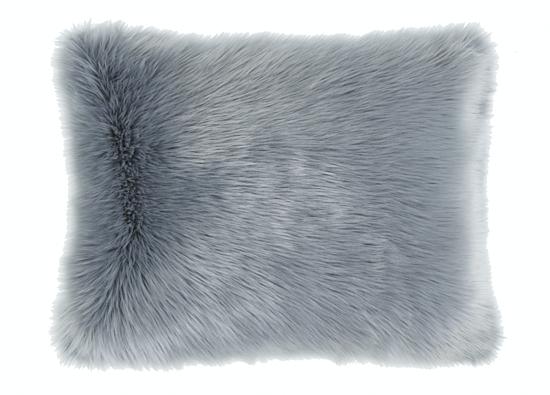 Futrzana poduszka dekoracyjna CZUPER szary 40x50 cm