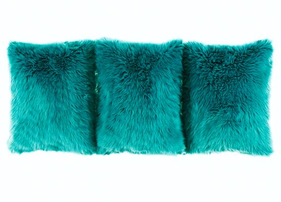 Poduszka dekoracyjna z futra LAGUNA KALA