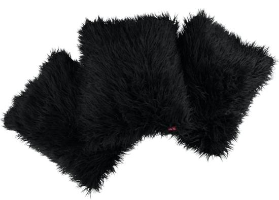 Futrzana poduszka dekoracyjna LUMA czarny 40x50 cm