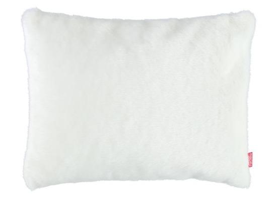Futrzana poduszka dekoracyjna MINK biały 40x50 cm