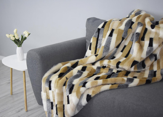 Koc, narzuta EGIPSKA PIĘKNOŚĆ beżowy 155x200 cm