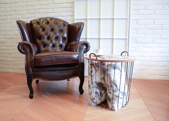 Komplet dekoracyjny futrzana narzuta KOZA i dwie poduszki KOZA