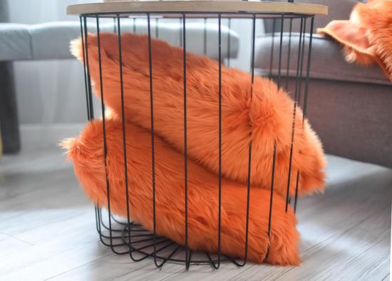 Poduszka dekoracyjna z futra MANDARA