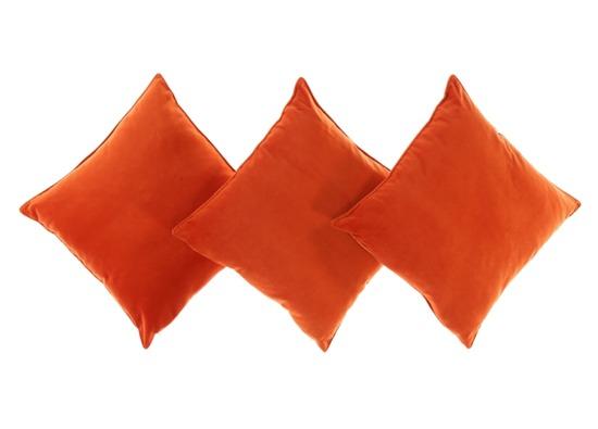 Poduszka z aksamitu ROMEO pomarańczowy 45x45 cm